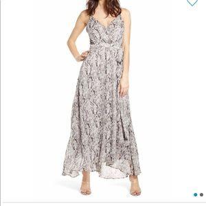 ASTR snake skin maxi dress